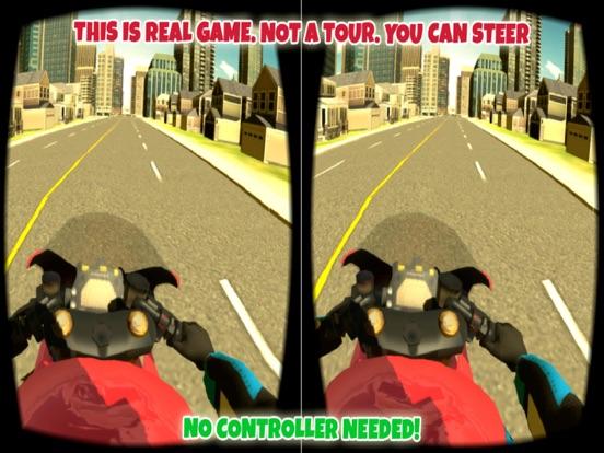 Screenshot #2 for VR Motorbike Simulator : VR Game for Google Cardboard