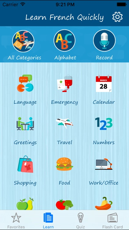 Learn French Quickly - Phrases, Quiz, Flash Card, Alphabet