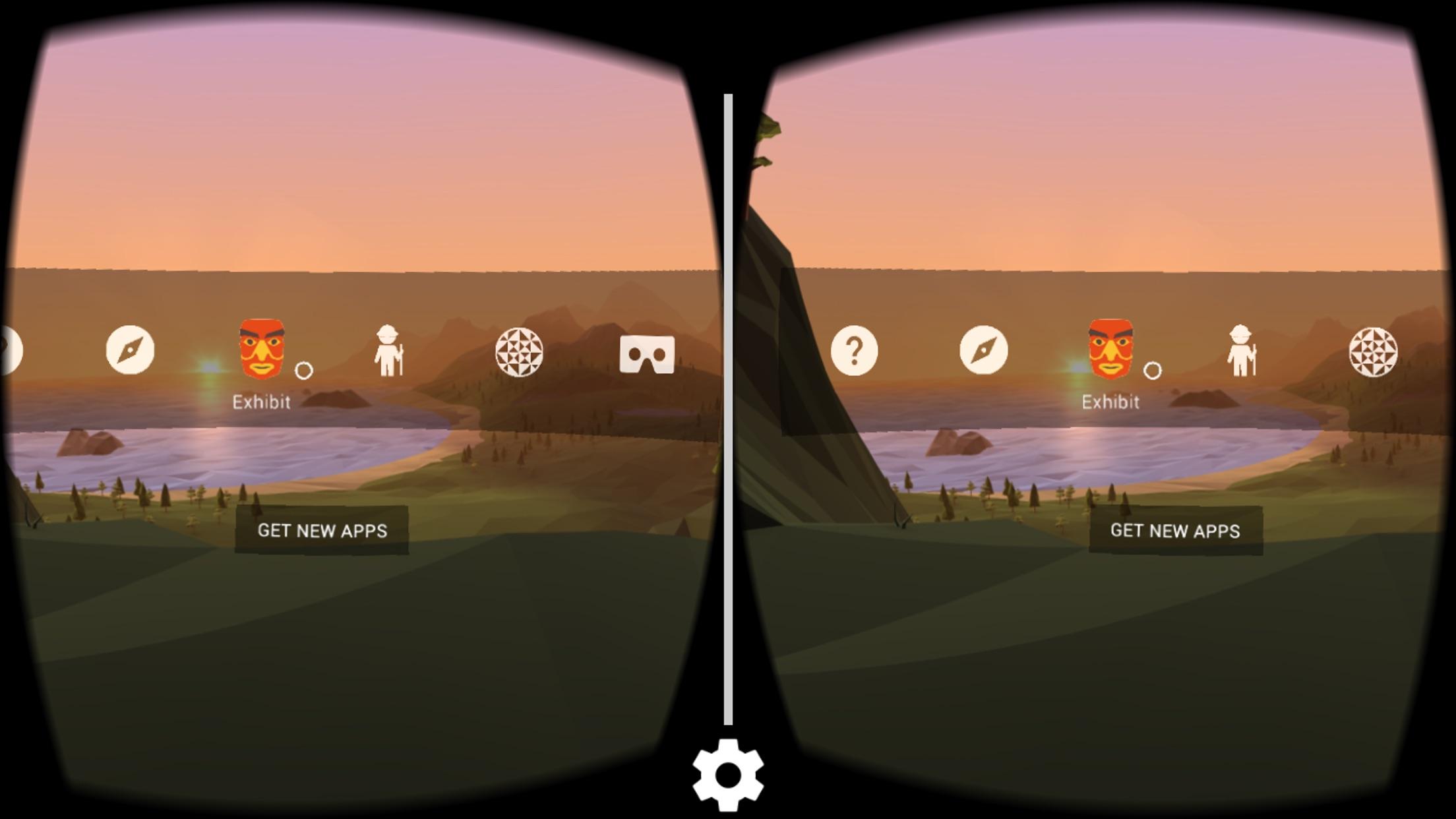 Screenshot do app Google Cardboard