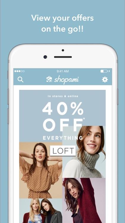 Shopami: Shopping app for coupons & discounts.