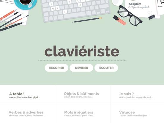 CLAVIERISTE ( version orthophonie & logopédie ) screenshot one