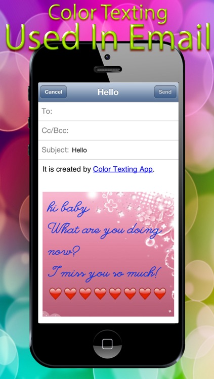 Color Font Bubble Message Free - Funny Colorfy Keyboard Emoji Msg screenshot-4