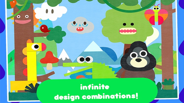 Crea World Animal –  create and play – creative art studio for kids with cute jungle and forest animals screenshot-3