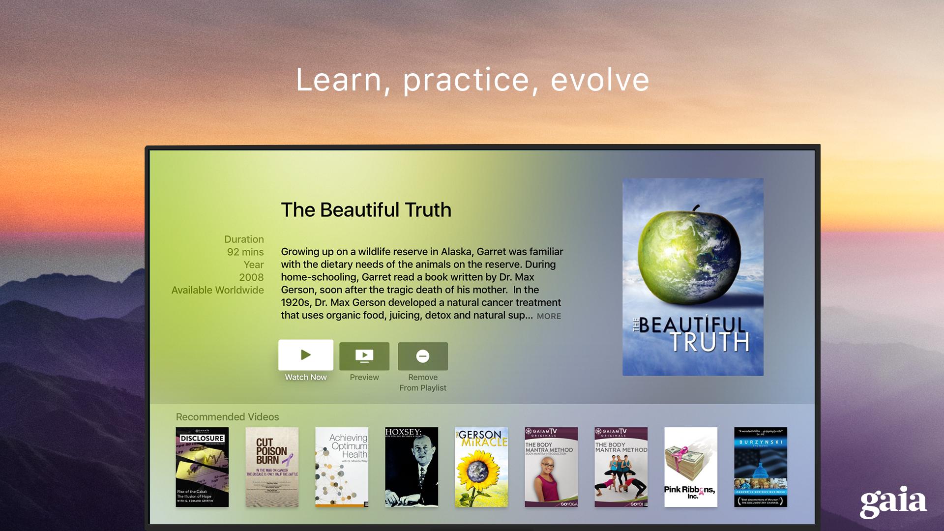 Gaia TV Discover Mindful Yoga screenshot 16
