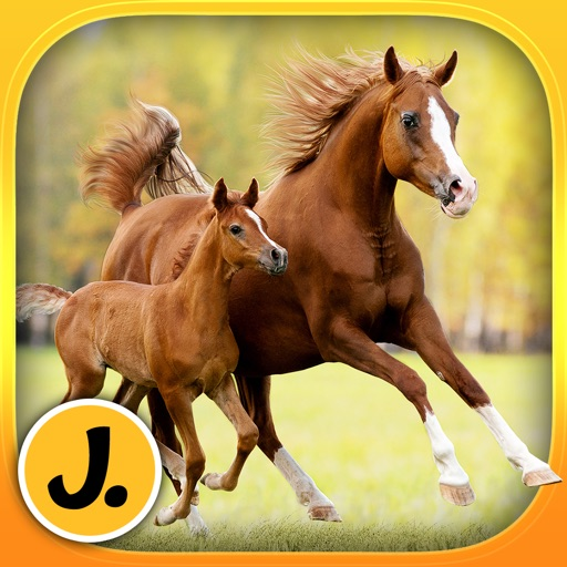 Cute Ponies and Beautiful Horses - puzzle game for little girls and preschool kids - Free