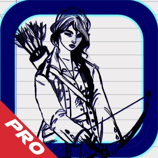 Draw Arrow Sketch - Super Fun Archery Game Pro icon