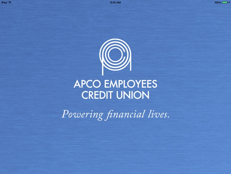 APCO Employees CU for iPad