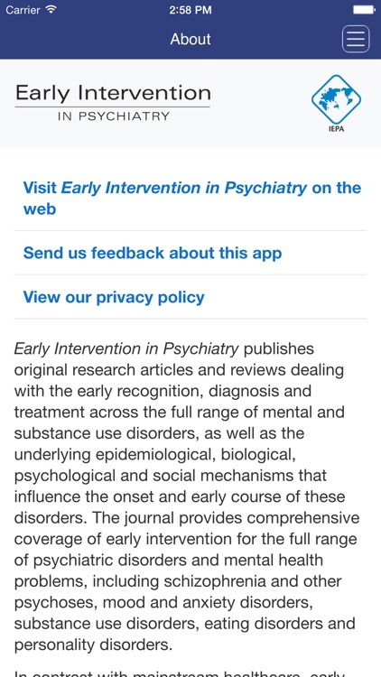Early Intervention in Psychiatry screenshot-4