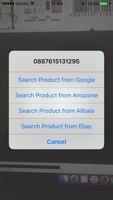 Barcode scanner - Barcode reader Screenshot on iOS