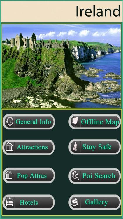 Ireland Offline Map Travel Guide