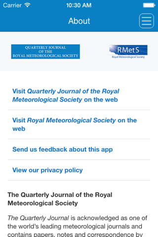 Screenshot of Quarterly Journal of the Royal Meteorological Society