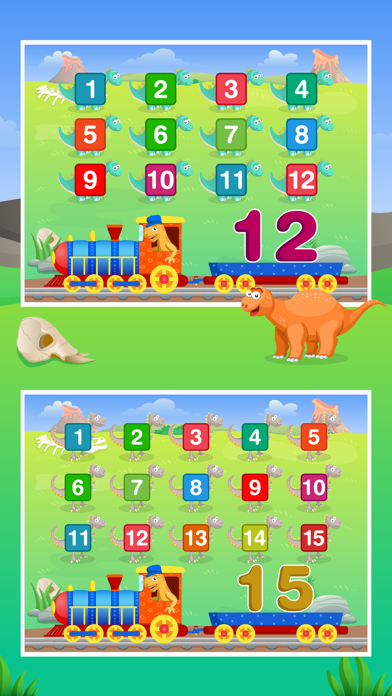 Dinosaur Number Train Game for Kids Free screenshot four