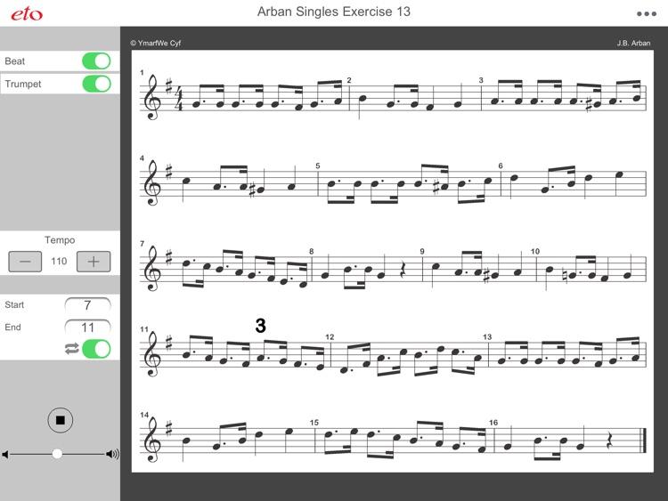 Arban Single Tonguing Ex. 13 - Advanced Trumpet & Cornet Practice