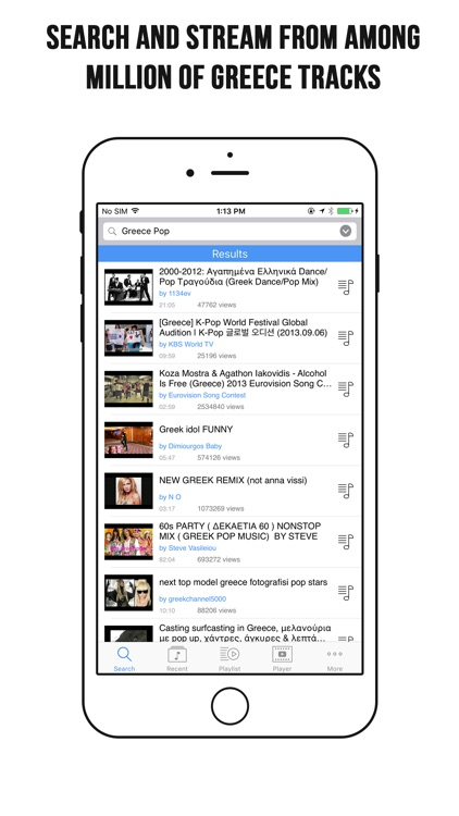 Greece Music App – Greece Music Player for YouTube by