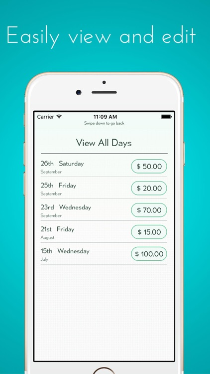 Calculate My Tips - Track your hourly rate and  salary, income and wages screenshot-3