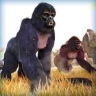 超级 大猩猩 猴 丛林 逃亡 冒险 游戏 免费 icon