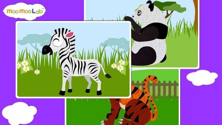 Zoo Animals - Animal Sounds, Puzzles and Activities for Toddlers and Preschool Kids by Moo Moo Lab screenshot-4