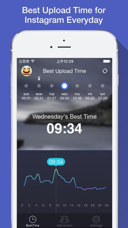 Best Upload Time - See best time to post for Instagram