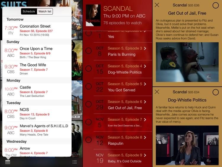 tv show tracker for iPad screenshot-3