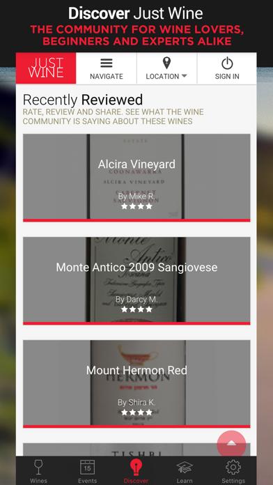 Just Wine screenshot one