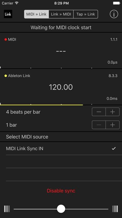 MIDI Link Sync