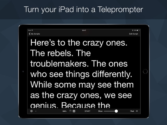 Screenshot Teleprompter Pro -Script & Lyrics Prompter Cue