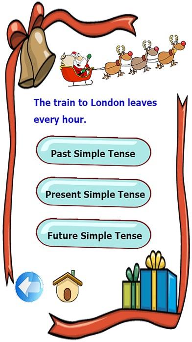 檢查語法在使用基本的英語時態練習比賽屏幕截圖4