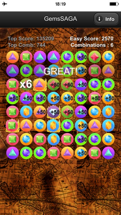 Gems Match SAGA - Game to combine gems or jewels that appear like a torrent