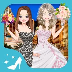 Las vegas wedding - Dressup and Makeup game for kids who love weddings