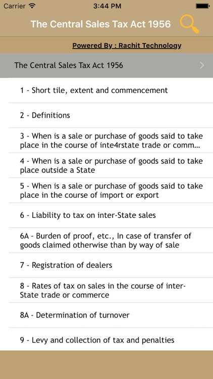 The Central Sales Tax Act 1956 screenshot-0