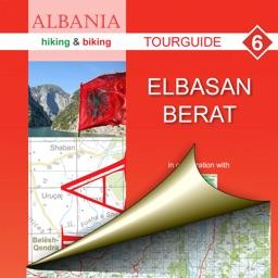 Elbasan, Berat. Tourist map.