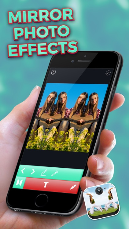 Mirror Photo Effects – Clone Yourself and Make Water Reflection in Pictures