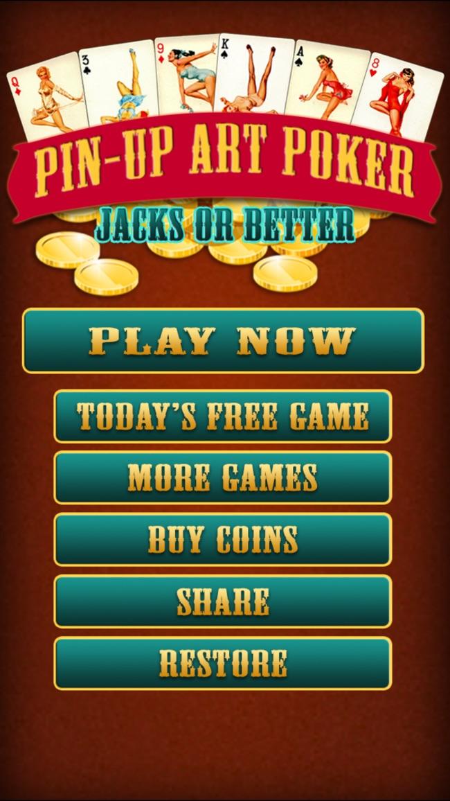 Pinup Art Video Poker - Jacks or Better Screenshot