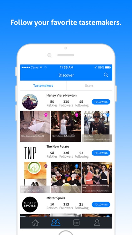Rekky - Discover new places through friends and tastemakers