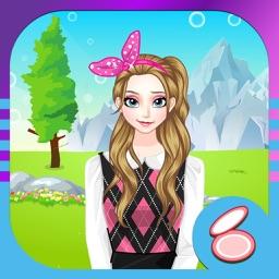 时尚女孩的试衣间:女孩子的美容,打扮,化妆,换装小游戏免费