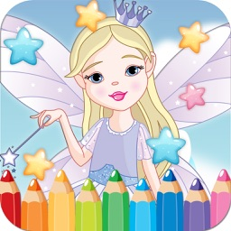 Fairy Princess Drawing Coloring Book - Cute Caricature Art Ideas pages for kids