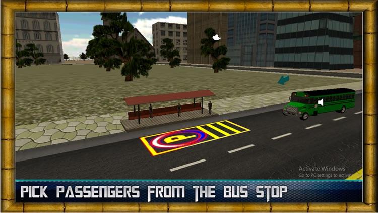 City Bus Driving Simulator 2016 - Real passengers pick & drop driver traffic parking Sim screenshot-3