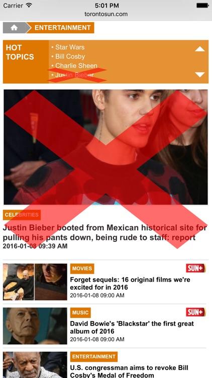 JB Blocker - Block Bieber content