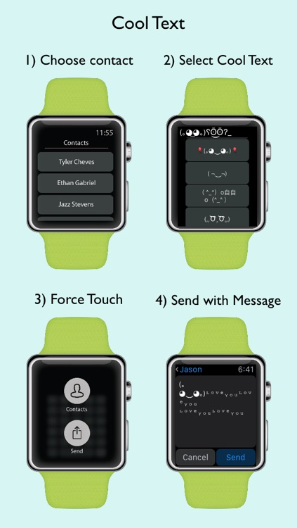 Cool Text Art for Watch