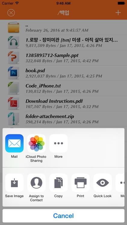 WiFi Disk - Flash Drive screenshot-3