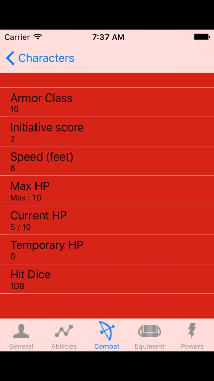 DnD5 Character Sheet screenshot-3