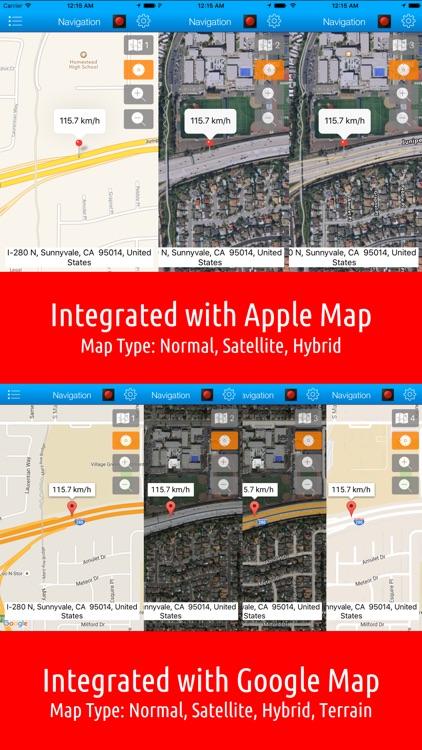 Smart Speed Tracker-GPS Speedometer, HUD and Trip Computer screenshot-3