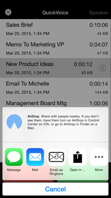 QuickVoice2Text Email (PRO Recorder) screenshot four