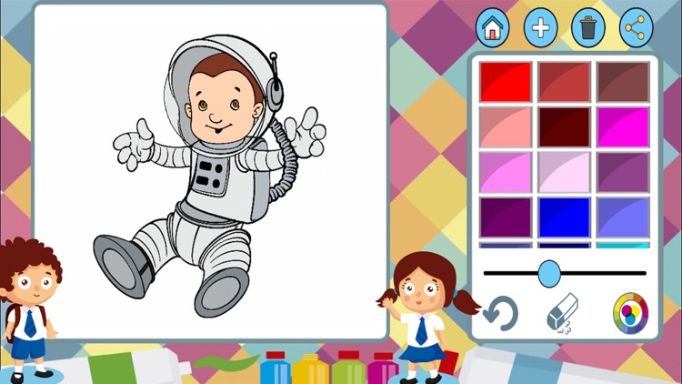 Aliens to paint - coloring book to draw space