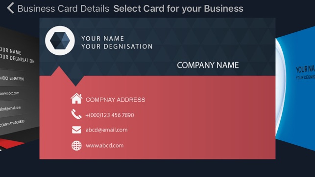 Business card creator quickly create and design your visiting card business card creator quickly create and design your visiting card maker on the app store reheart Gallery