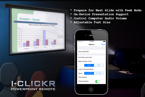 Screenshot of i-Clickr Remote for PowerPoint
