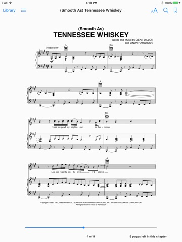 Smooth As) Tennessee Whiskey Sheet Music by Chris Stapleton on iBooks