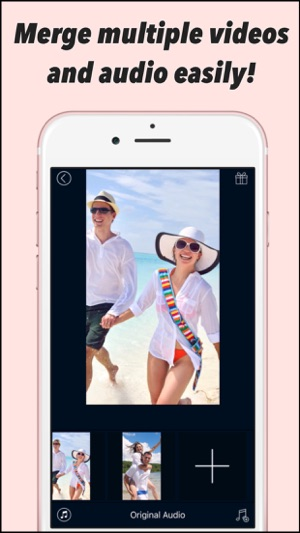 How to merge two pictures together in iphone