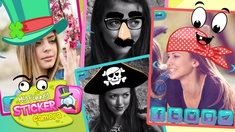 My Funny Sticker Camera: Photo editor with cute deco stamps & image makeover memes screenshot-0