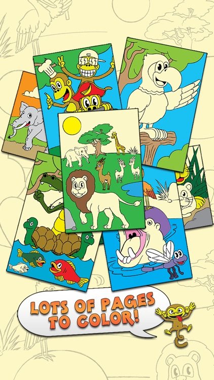 Coloring Animal Zoo Touch To Color Activity Coloring Book For Kids and Family Preschool Ultimate Edition screenshot-0